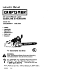 Craftsman 358.360850 Instruction manual