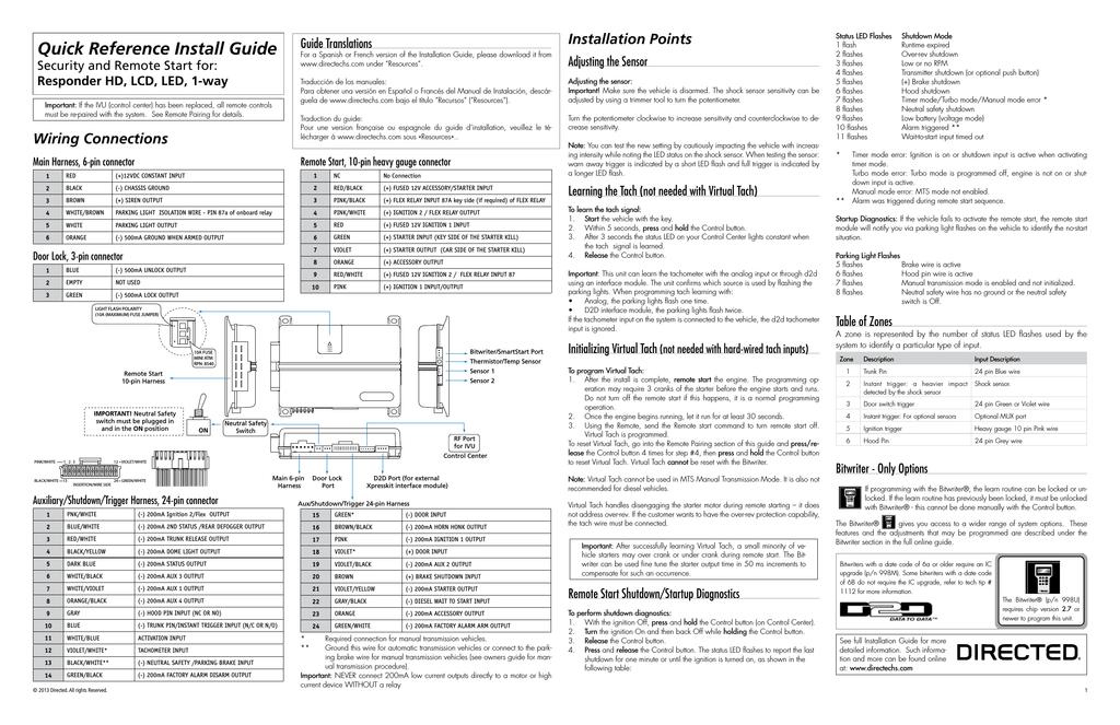 viper 5606v install guide rh manualzilla com Avital 4103LX Avital 4113LX Remote 5103Lx or Starter Kit