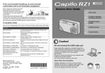 Ricoh Caplio RZ1 User guide