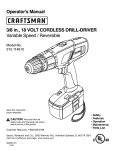 Craftsman 315.114610 Operator`s manual
