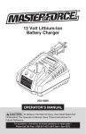 Master-force 252-8020 Operator`s manual