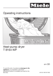 Miele T 1329CI  CONDENSER DRYER - Operating instructions