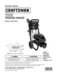 Craftsman 580.752190 Operating instructions