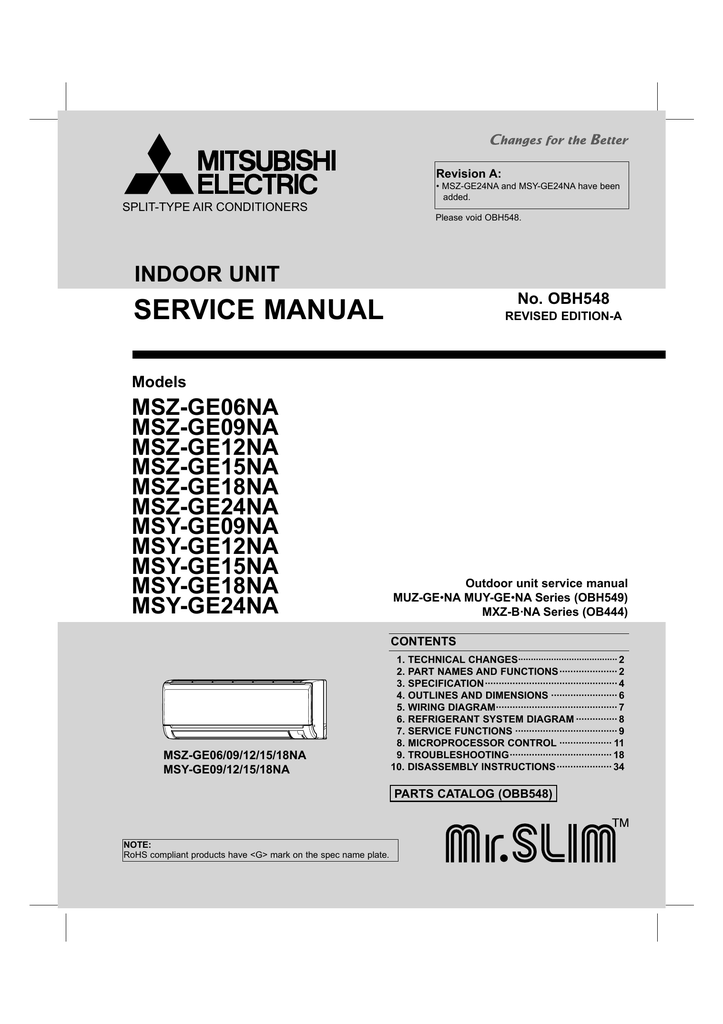 Mitsubishi Split Type Aircon Manual