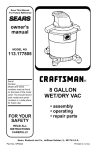 Craftsman 113.177805 Owner`s manual