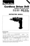 Makita 6073DW Instruction manual