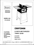 Craftsman 113.24140 Owner`s manual