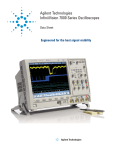 Agilent Technologies InfiniiVision 7000 Series Product data