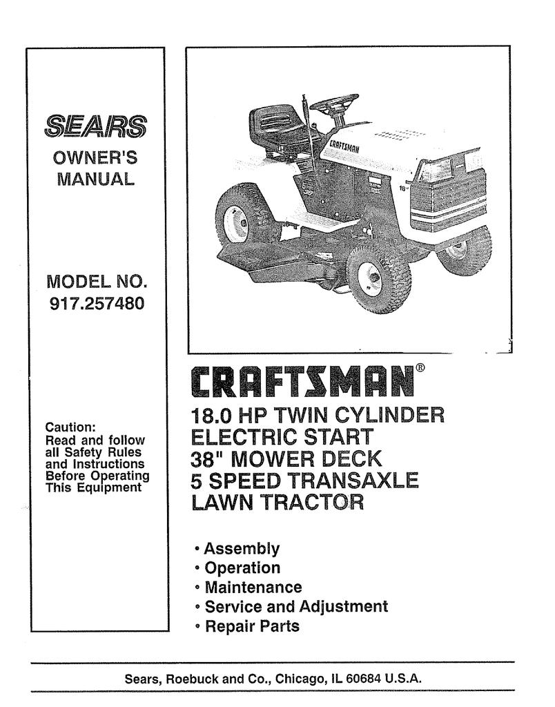 Craftsman Sears Compact 8e Garden Tractor Wiring Diagram Electric