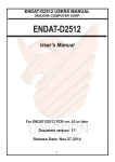 Unicorn Computer ENDAT-3902 User`s manual