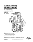 Craftsman 315.175170 Operator`s manual