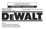 DeWalt D55168 Instruction manual