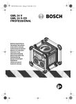 Bosch GML 20 Professional Operating instructions