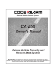 Code Alarm CA-550 Owner`s manual