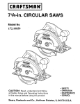Craftsman 172.10850 Operating instructions