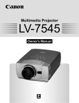 Canon LV-7545 Owner`s manual