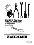Weed Eater WET2242STA Owner`s manual