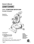 Craftsman 315.243150 Owner`s manual