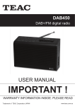 Bush BR08DAB User manual