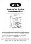 AGA Ludlow Wood Burning Operating instructions