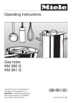 Miele KM 390 G Operating instructions