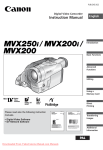 Canon MVX200 Instruction manual