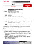 Sharp MX-M283 Installation manual
