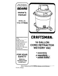 Sears Craftsman 113.177035 Owner`s manual