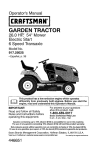 Craftsman 917.25025 Operator`s manual