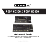 Line 6 POD® HD300-HD400 Advanced Guide (Rev D