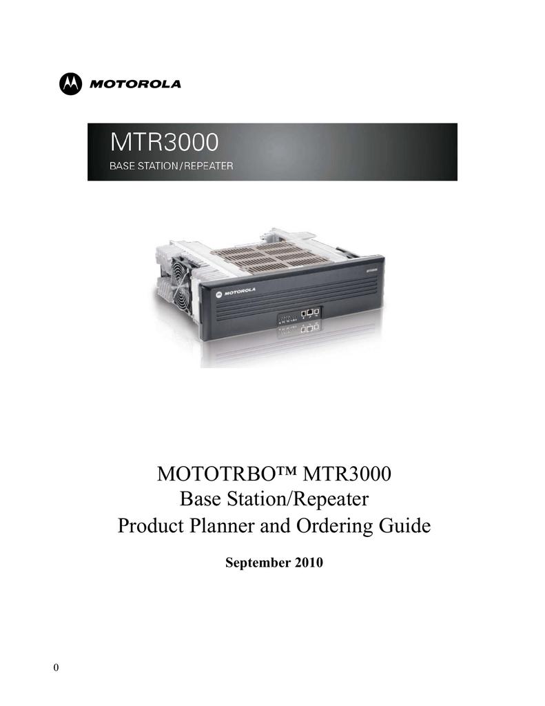 Motorola MOTOTRBO SYSTEM PLANNER Specifications