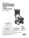 Craftsman 580.752581 Operating instructions