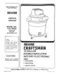 Craftsman 113.179490 Owner`s manual