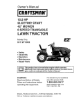 Craftsman 917.271052 Owner`s manual