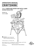 Craftsman 315.212380 Operator`s manual