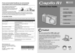 Ricoh Caplio R1 User guide