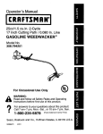 Craftsman 358.794251 Operator`s manual