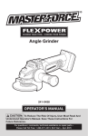 Master-force 252-8036 Operator`s manual