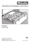 Miele F 311 i-6 Operating instructions