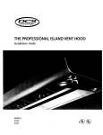 DCS Professional Island Vent Hood IVS52 Installation guide