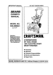 Craftsman 536.886621 Owner`s manual