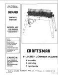 Craftsman 113.206933 Owner`s manual