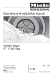 Miele F 7138 S Installation manual