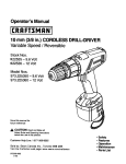 Craftsman 973.225350 Operator`s manual