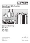 Miele KM 491 Operating instructions