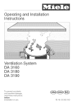 Miele DA 3180 Installation manual