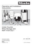 Miele KWT 4154 UG-1 Operating instructions