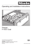 Miele F 4757 S ed Operating instructions