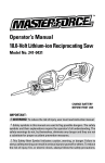Master-force 241-0431 Operator`s manual