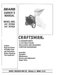 Craftsman 247.797852 Owner`s manual